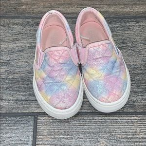 Children's place rainbow sneakers size 8